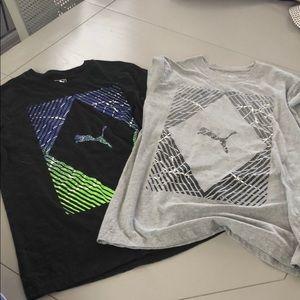 2 puma T-shirts